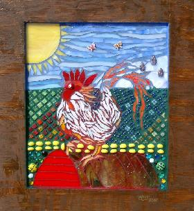 Rooster Mosaic (Click to enlarge)